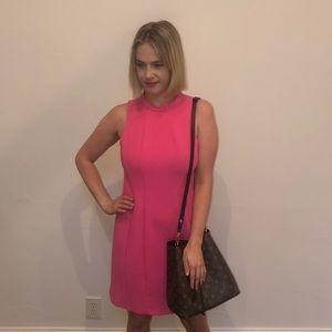 Shoshanna size:10 pink shift dress.